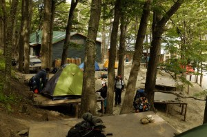 Paine Camping Chileno campsite