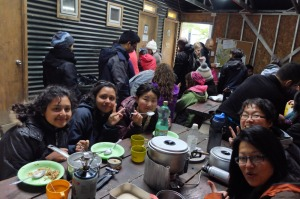 Paine Camping Chileno dinner